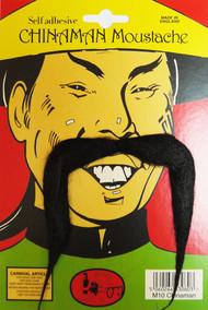 Adults Kung Fu Master China-Man Moustache Fancy Dress Accessory