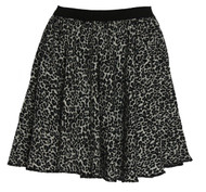 Snow Leopard Animal Print 15 inch Skater Skirt Roller Derby Girl