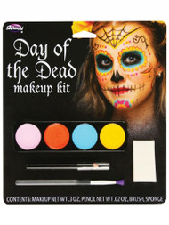 Female Halloween Day Of The Dead Facepaints Fancy Dress Make-Up