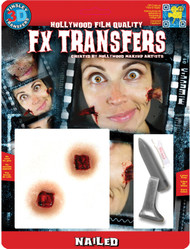 Tinsley 3D Transfers Hollywood Special FX ' Nailed ' Halloween Effects