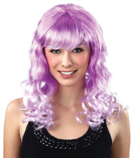 Ladies Purple & White Lolita Cosplay Cartoon Wig Fancy Dress Accessory