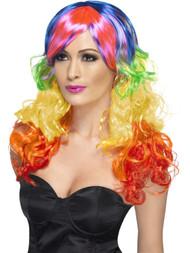 Rainbow Curl Wig Gay Pride Rainbow