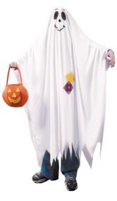 Adults Bed Sheet Style Friendly Ghost Halloween Fancy Dress Costume One Size