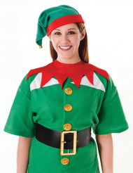 Bristol Novelty Adults Red & Green Santas Helper Elf Christmas Hat Accessory Set
