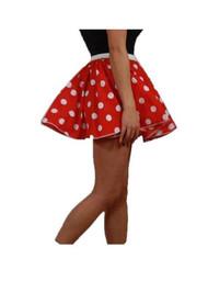 """Adults Polka Dot 15"""" Skater Skirt Full Circle Fancy Dress 60s 70s Roller Girl"""