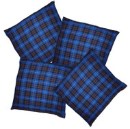 Blue Tartan Throw Cushion Cover/Case Burns Night Christmas Decoration