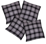Black & White Tartan Cushion Cover/Covers Burns Night Christmas Hogmanay
