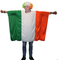 The Dragons Den Unisex Irish Flag Poncho - One Size St Patricks Day Fancy Dress