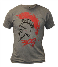 300 Spartan Warrior Leonidas Helmet Blood Splat Sparta Mens Fancy Dress T-shirt