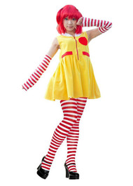 Ladies Ronald The Clown Red & Yellow Fancy Dress Costume Dress & Accessories