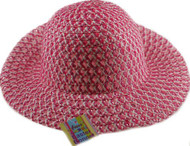 Pink Bonnet Chldrens Hat Decorate With Chicks & Eggs Easter
