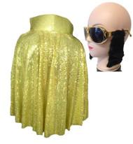 The King Sequin Cape & Kings Crown Glasses Rock n Roll Fancy Dress Set