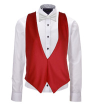 England Denmark Switzerland International Flag Backless Waistcoat & Bow Tie Set