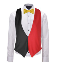 Belgium Country Flag 6 Nations Backless Waistcoat & Bow Tie Set Accessory
