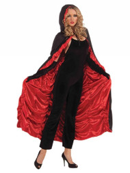 Unisex Adults Black & Red Coffin Cape Vampire Fancy Dress Accessory Halloween