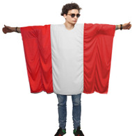 Unisex Austria Flag Poncho OneSize Austria Fancy Dress Supporter Costumes