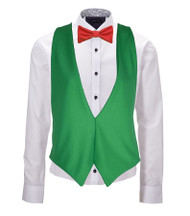 Welsh Flag Backless Waistcoat & Bow Tie Set Wales 6 Nations Rugby Accessory
