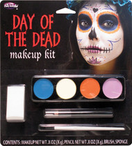 Female Halloween Day Of The Dead Facepaint Kit Fancy Dress Make-Up