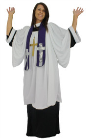 Adults Unisex Gospel Church Religious Choir Singer Fancy Dress Costume