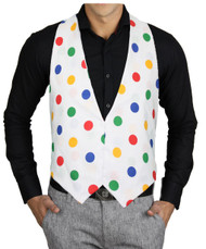Adults Size Children in Need Multicoloured Polka Dot Backless Waistcoat CIN
