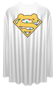 "White Super Pudsey Logo BBC Children in Need Printed 35"" Superhero Cape"