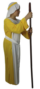 Childrens Yellow Shepherd Costume Childs Christmas Nativity  Wise man Fancy Dress