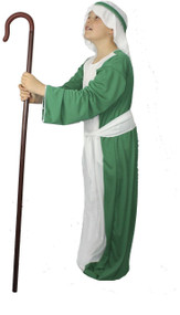 Childrens Green Shepherd Costume Childs Christmas Nativity Wise man Fancy Dress