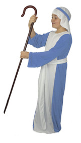 Childrens Sky Blue Shepherd Costume Kids Christmas Nativity Wise Man Fancy Dress