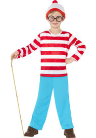 Childrens Where's Wally? Boys Book Week Fancy Dress Costume