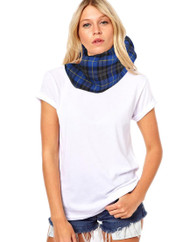 Unisex Adults Blue Hunting Tartan Snood Burns Night Fancy Dress Accessorie