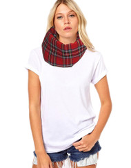 Unisex Adults Royal Stewart Tartan Snood Burns Night Fancy Dress Accessory