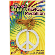 Unisex Hippie Peace Sign Medallion 60's Fancy Dress Hippy Pendant Accessory