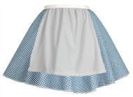 Ladies Blue Gingham Skater Skirt With Apron COWGIRL Barn Dance Harvest Fancy Dress