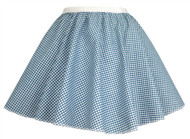 "Ladies Blue Gingham 15"" Harvest Time Skater Skirt Cowgirl Fancy Dress"