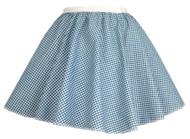 "Ladies Blue Gingham 15"" Harvest Time Skater Skirt Cowgirl Fancy Dress"