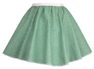 "Ladies Green Gingham 15"" Harvest Time Skater Skirt Cowgirl Fancy Dress"