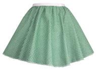 """Ladies Green Gingham 15"""" Harvest Time Skater Skirt Cowgirl Fancy Dress"""
