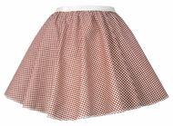"Ladies Red Gingham 15"" Harvest Time Skater Skirt Cowgirl Fancy Dress"