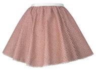 "Ladies Red Gingham 15"" Harvest Time Skater Skirt Cowgirl Fancy Dress"