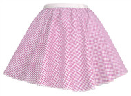 "Ladies Pink Gingham 15"" Harvest Time Skater Skirt Cowgirl Fancy Dress"