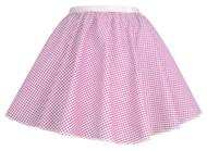 "Ladies Pink Gingham 15"" Harvest Time Skater Skirt Cowgirl Fancy Dress"