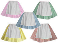 Childrens Gingham Skater Skirts With Apron Nursery Rhyme Book Week Kids Age 6-12