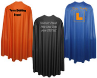 "Adults Custom Printed 48"" Super Hero Cape Corprate Promotional Event Team Building Capes"