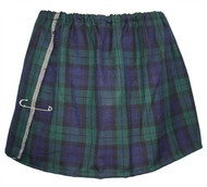 Womens Tartan Mini Kilt Blackwatch Burns Night Scottish Fancy Dress