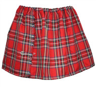 Womens Tartan Mini Kilt Red Royal Stewart Burns Night Scottish Fancy Dress