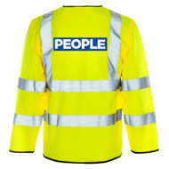 Adults Unisex Hi Viz People Jacket High Visability Protest Peoples Movement