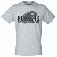 Mens Hookers Rugby Grey T Shirt