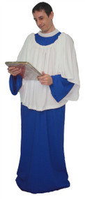 Mens or Womens Royal Blue Religious Choir or Alter Boy Church Singer Fancy Dress Costume