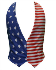 Kids USA Independence Day 4th of July Childs American Backless Waistcoat