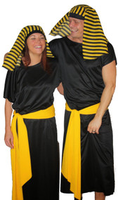 Deluxe Couples Egyptian Cleopatra Pharaoh & King Tutankhamun Fancy Dress Costume